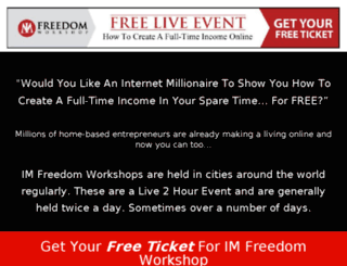 imfreedomworkshopevent.com screenshot