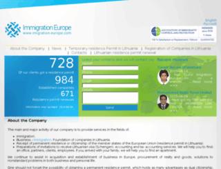 imigration-europe.com screenshot