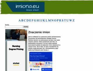 imiona.eu screenshot