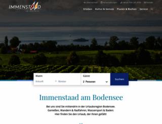 immenstaad-tourismus.de screenshot