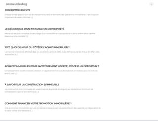immeublesbcg.com screenshot