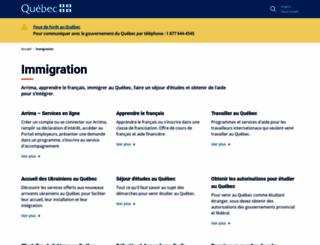 immigration-quebec.gouv.qc.ca screenshot