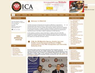 immigration.gov.pg screenshot