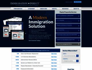 immigrationdirect.com screenshot