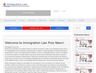 immigrationlawpros.com screenshot