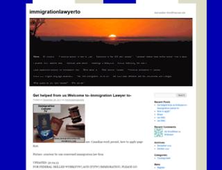 immigrationlawyerto.wordpress.com screenshot