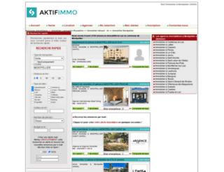 immobilier-montpellier.aktifimmo.com screenshot