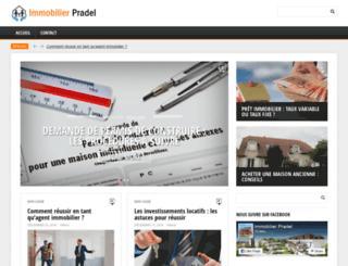 immobilier-pradel.com screenshot
