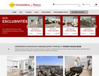 immobiliere-de-rosny.fr screenshot