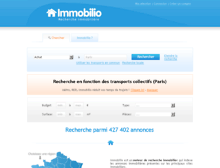immobilio.com screenshot