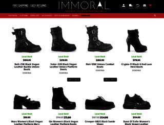 immoralfashion.com.au screenshot