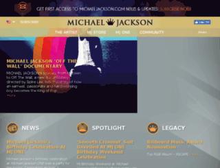 immortal.michaeljackson.com screenshot