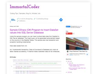 immortalcoder.blogspot.in screenshot
