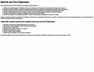 imoveisnovaesperanca.com.br screenshot