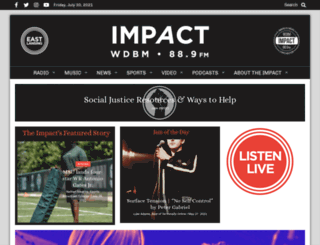 impact89fm.org screenshot