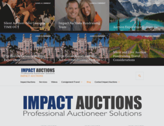 impactauctions.org screenshot