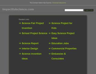 impactfulscience.com screenshot