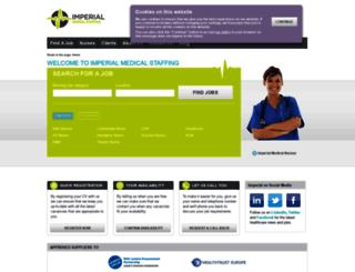 imperialmedicalstaffing.co.uk screenshot