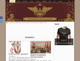 imperiumromanum.edu.pl screenshot
