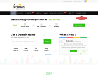 impexsolutions.co.in screenshot