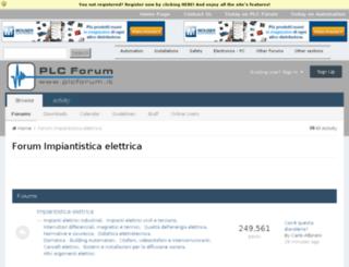 impiantistica.plcforum.it screenshot