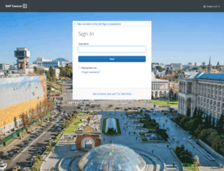 implementation.concursolutions.com screenshot