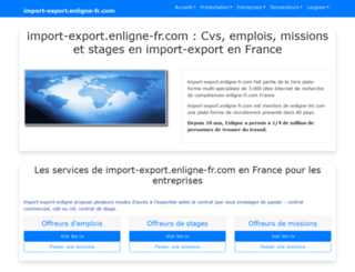 import-export.enligne-fr.com screenshot
