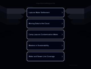 importanciadelagua.biz screenshot