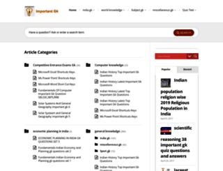 importantgk.com screenshot