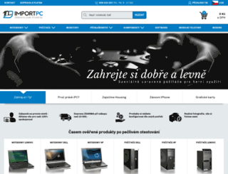 importpc.cz screenshot