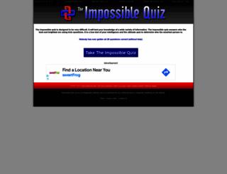 impossible-quiz.com screenshot