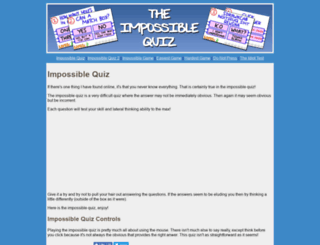 impossible-quiz.org screenshot