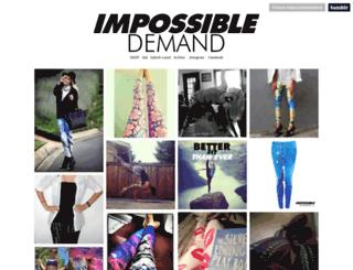impossibledemand.tumblr.com screenshot