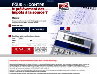 impot-source.sondagenational.com screenshot
