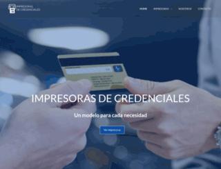 impresorasdecredenciales.com screenshot
