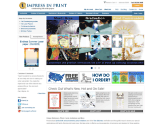 impressinprint.com screenshot