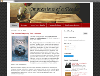 impressionsofareader.com screenshot
