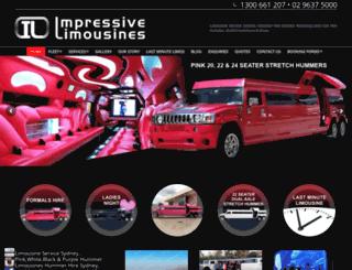 impressivelimos.com.au screenshot