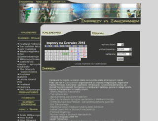 imprezy.e-zakopane.pl screenshot