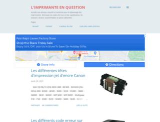 imprimante-en-question.blogspot.com screenshot