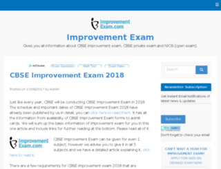 improvementexam.com screenshot