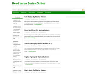 imranseries.urdunovels.org screenshot
