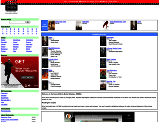 imsdb.com screenshot