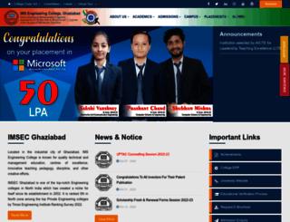 imsec.ac.in screenshot