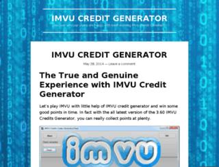 imvucreditgeneratorz.wordpress.com screenshot