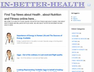 in-better-health.com screenshot