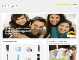 in-eshop.oriflame.com screenshot