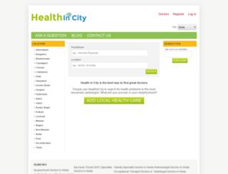 in.healthincity.com screenshot