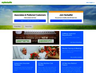 in.myherbalife.com screenshot