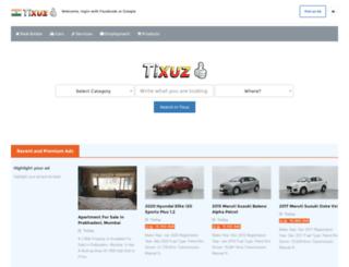 in.tixuz.com screenshot